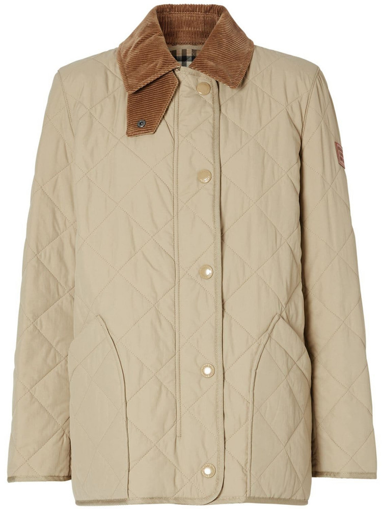 BURBERRY Cotswold Quilted Nylon Jacket in beige
