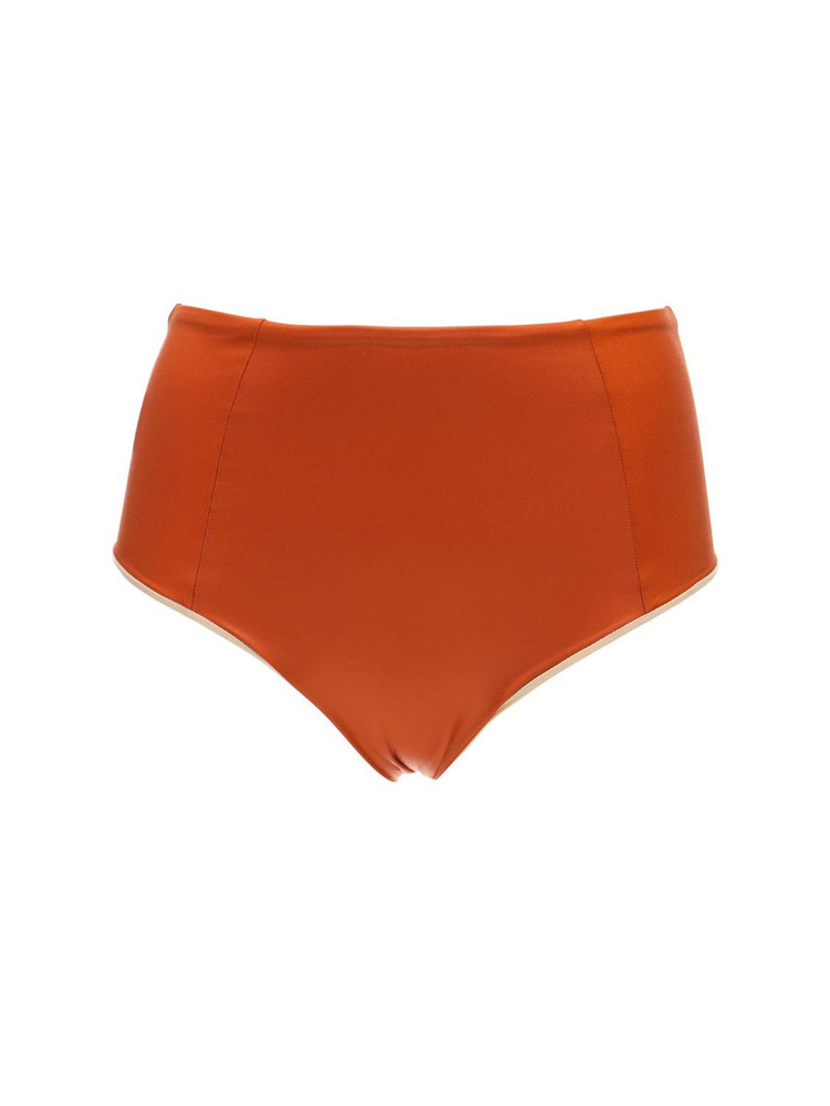 FANTABODY Shiny High Waist Bikini Bottoms in orange