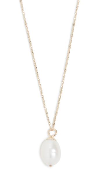 Ariel Gordon Jewelry Baroque Pearl Drop Necklace in gold
