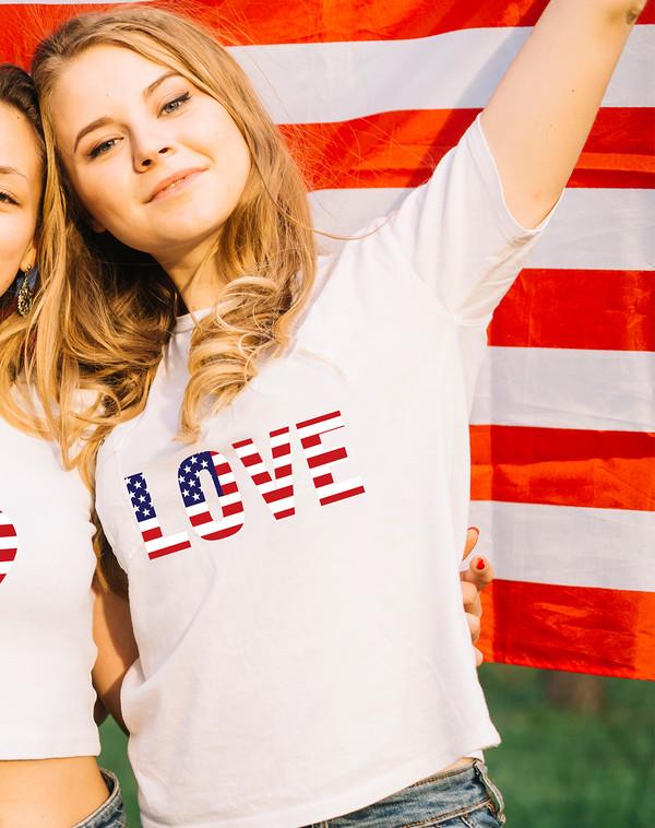 top love america american flag american apparel womens t-shirt tank top girl shirts shirt awesome shirt cool shirts white tees zazzle