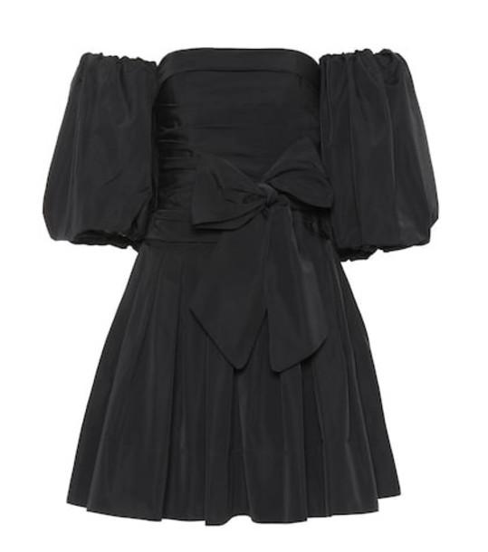 Valentino Cotton-blend faille minidress in black