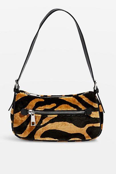TopShop Kenya Tiger Shoulder Bag - Tan