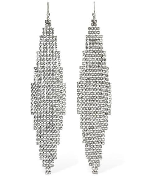 SAINT LAURENT Smoking Mesh Drop Earrings in silver