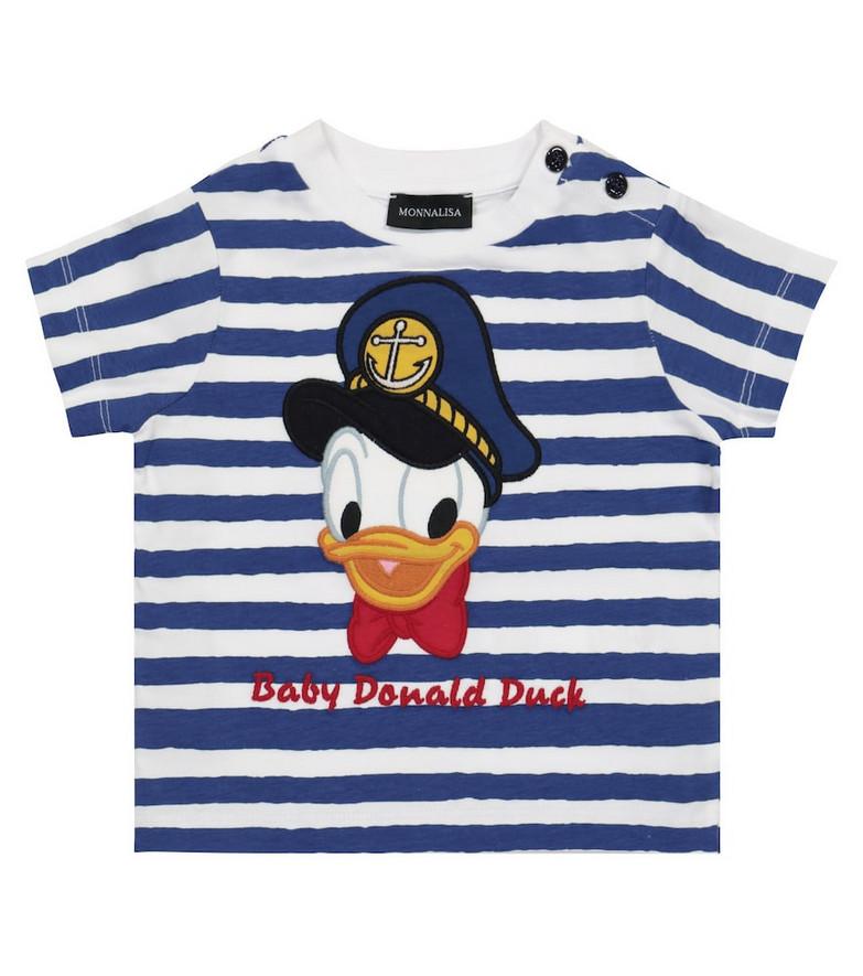 Monnalisa x Disney® Baby printed T-shirt in blue