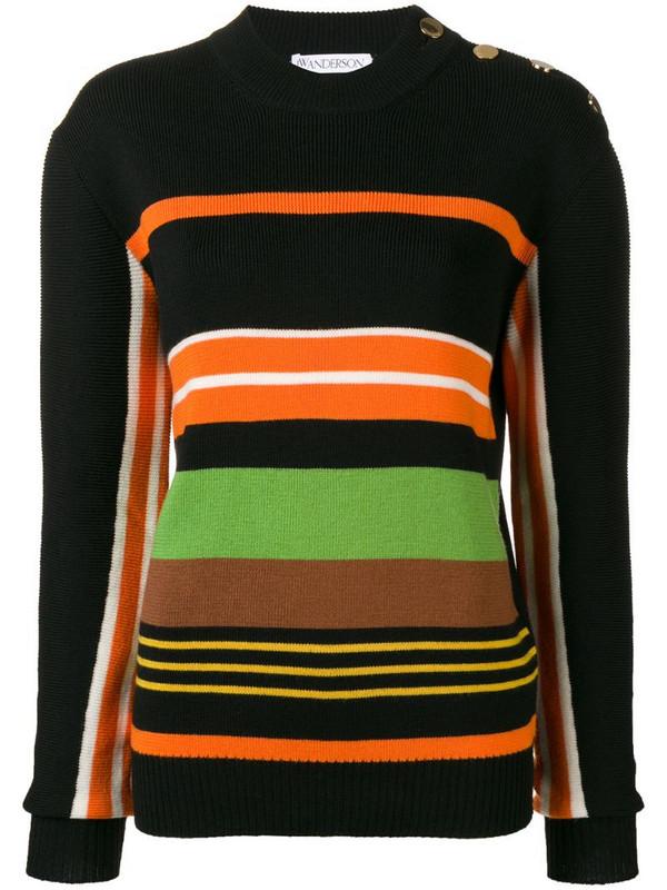 JW Anderson striped jumper in black