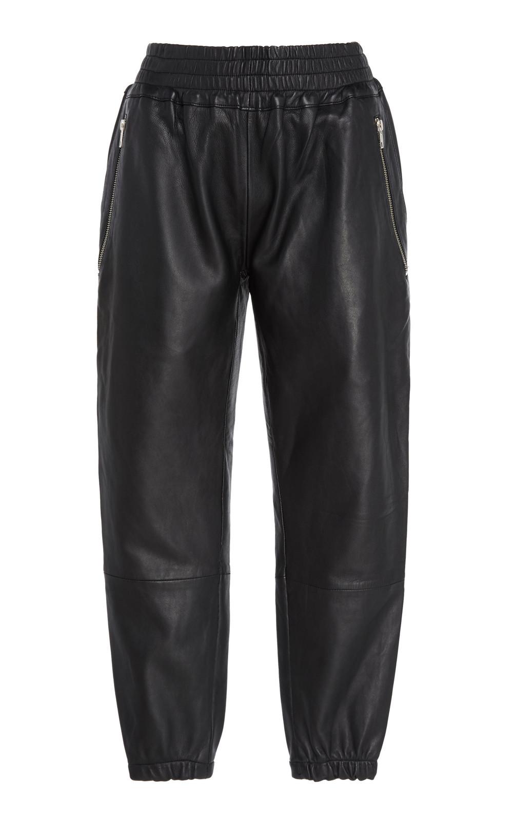 SemSem Horus Leather Pants in black
