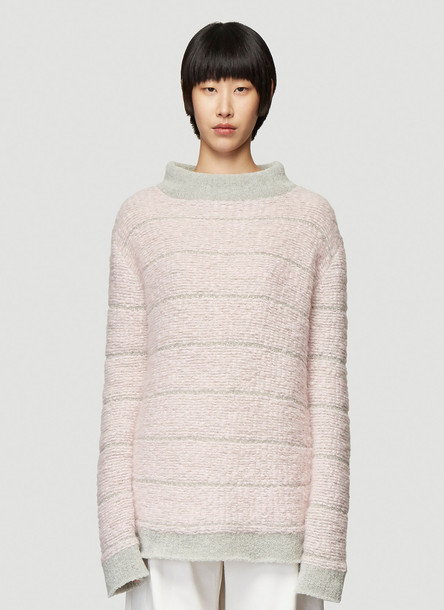 Eckhaus Latta VIP Knit Sweater in Pink size S