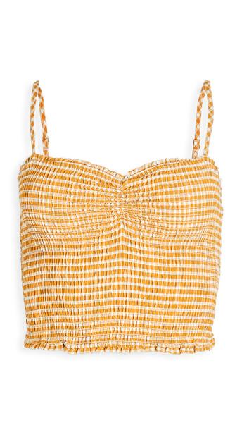 BB Dakota Hello Sunshine Smocked Top in yellow