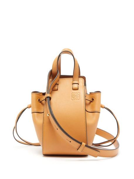 Loewe - Hammock Mini Leather Tote Bag - Womens - Tan