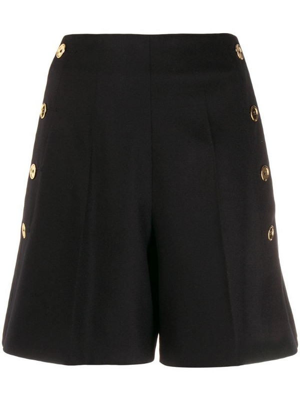 Patou side button shorts in black