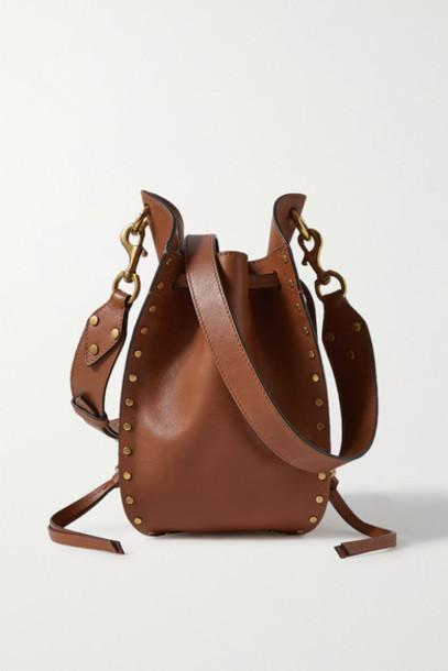 Isabel Marant - Radja Studded Leather Bucket Bag - Tan