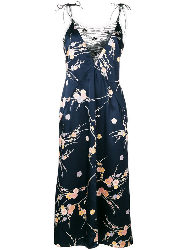 Giorgio Armani Pre-Owned embellished floral slip dress in blue