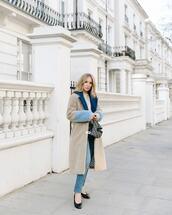 coat,faux fur coat,long coat,ballet flats,skinny jeans,dior bag,sweater