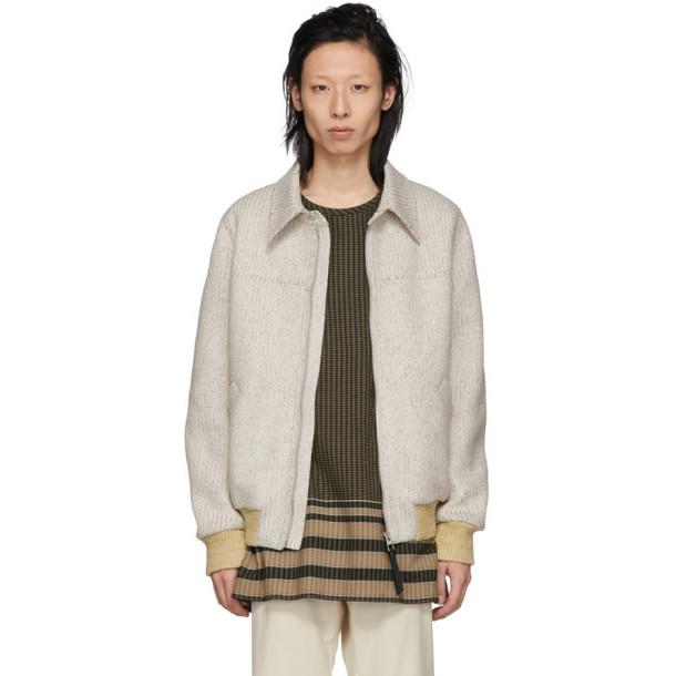 Loewe Grey Paper Blouson Jacket