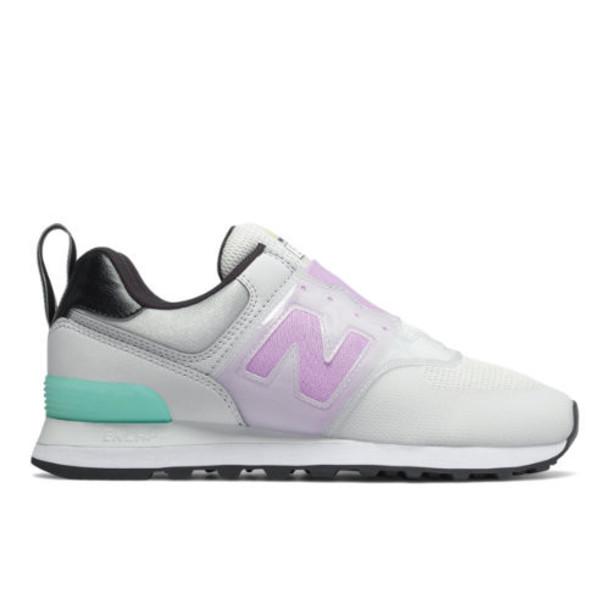New Balance 574 Slip On Women's 574 Shoes - Grey/Purple (WL574PGY)