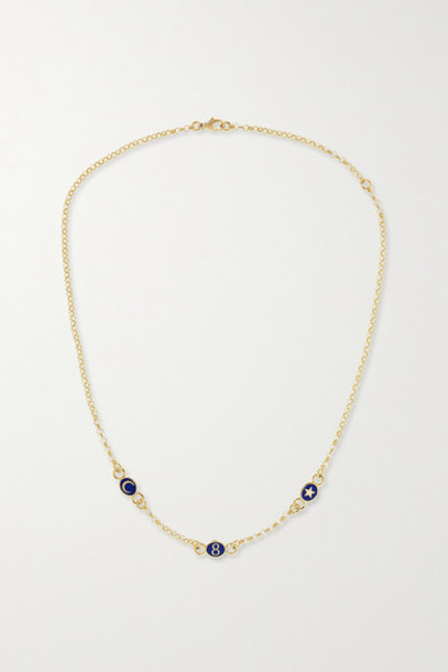Foundrae - 18-karat Gold Enamel Necklace