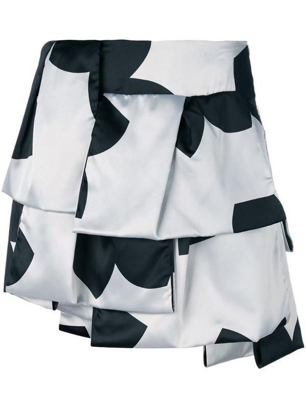 Giorgio Armani Pre-Owned layered printed skirt in black