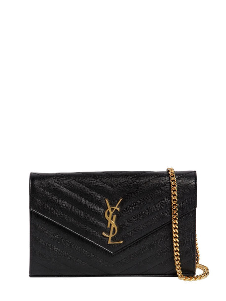 SAINT LAURENT Md Monogram Quilted Leather Bag in black