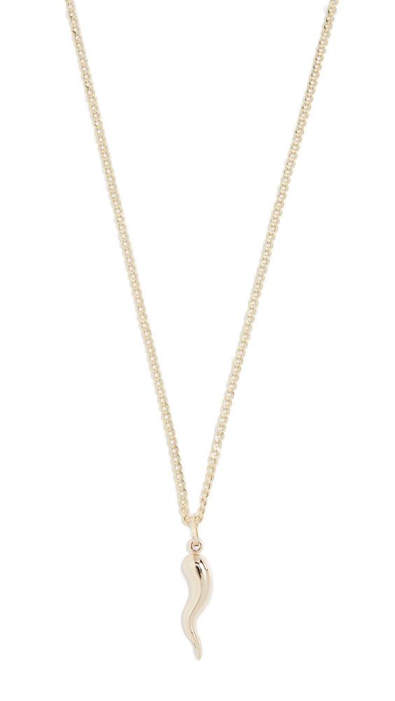 Loren Stewart Cornetto Necklace in gold / yellow