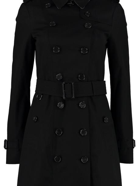 Burberry Sandringham Medium Trench Coat in black