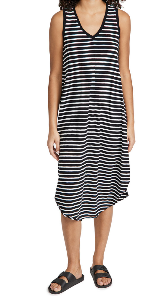 Z Supply Stripe Reverie Dress in black / white