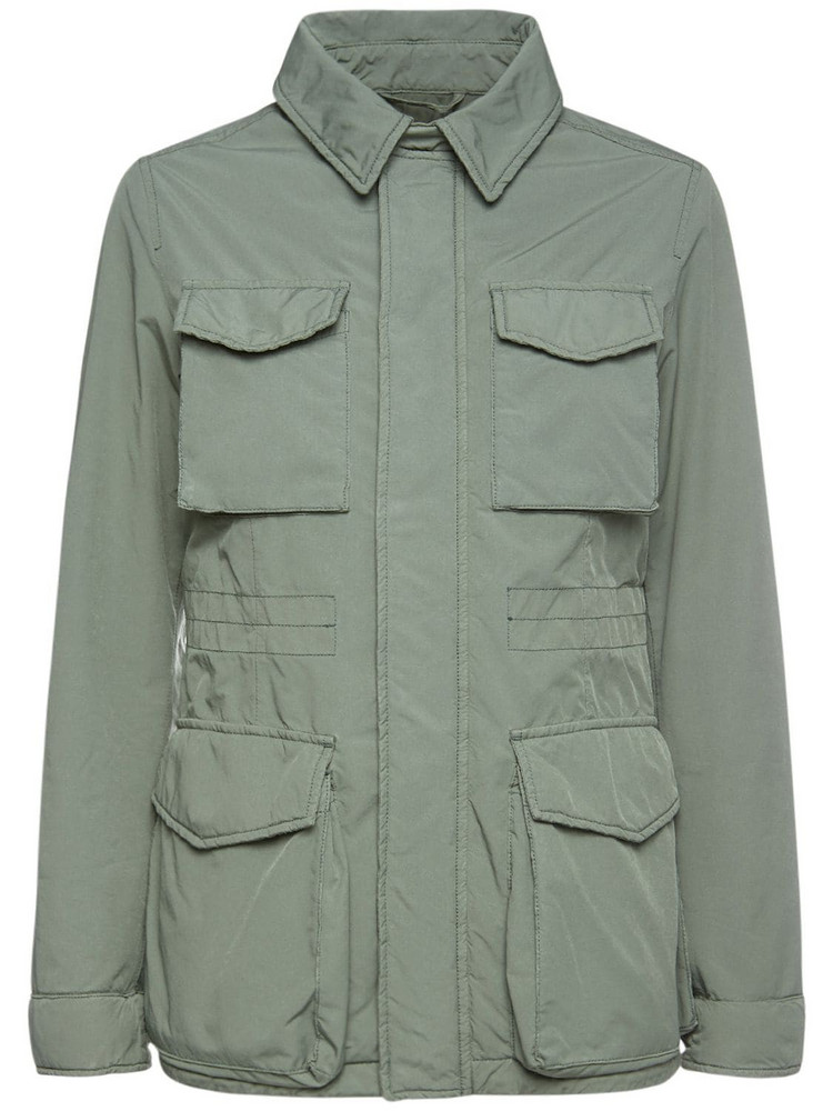 ASPESI Compact Nylon Patch Pocket Jacket in green