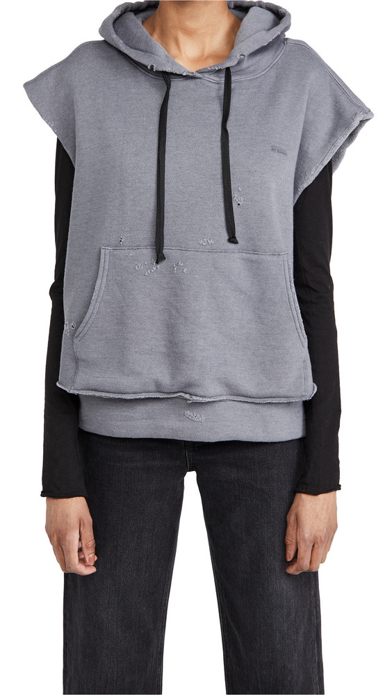 TRE by Natalie Ratabesi The Manny Distressed Sweatshirt in grey