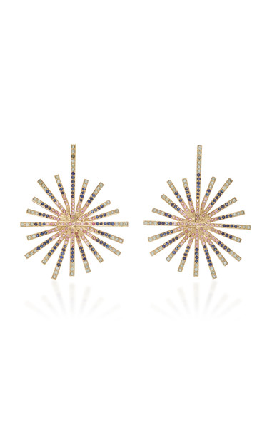 Madhuri Parson Starburst Multi-Sapphire Earrings