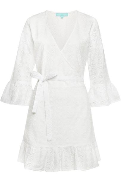 Melissa Odabash Vogue Cotton Wrap Dress  in white