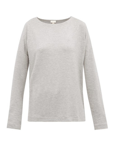 Hanro - Balance Jersey Pyjama Top - Womens - Grey