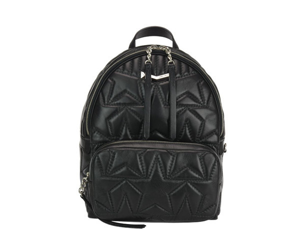 Jimmy Choo Helia Backpack in black / silver