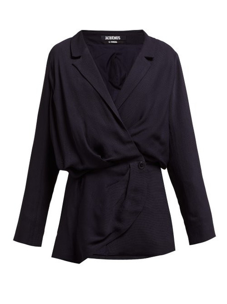 Jacquemus - Sisco Double Breasted Twill Blazer Dress - Womens - Navy