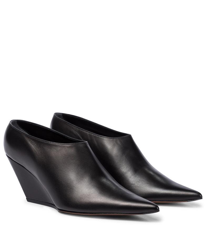 Proenza Schouler Leather wedge pumps in black