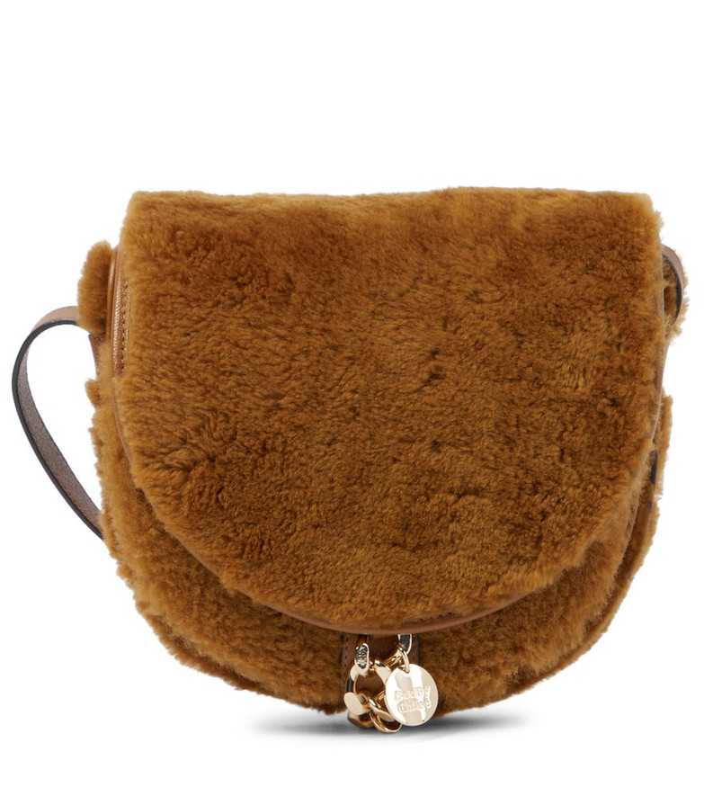 See By Chloé Mara Saddle leather shoulder bag in neutrals