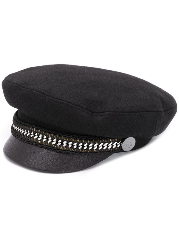 Karl Lagerfeld Karl captain hat in black