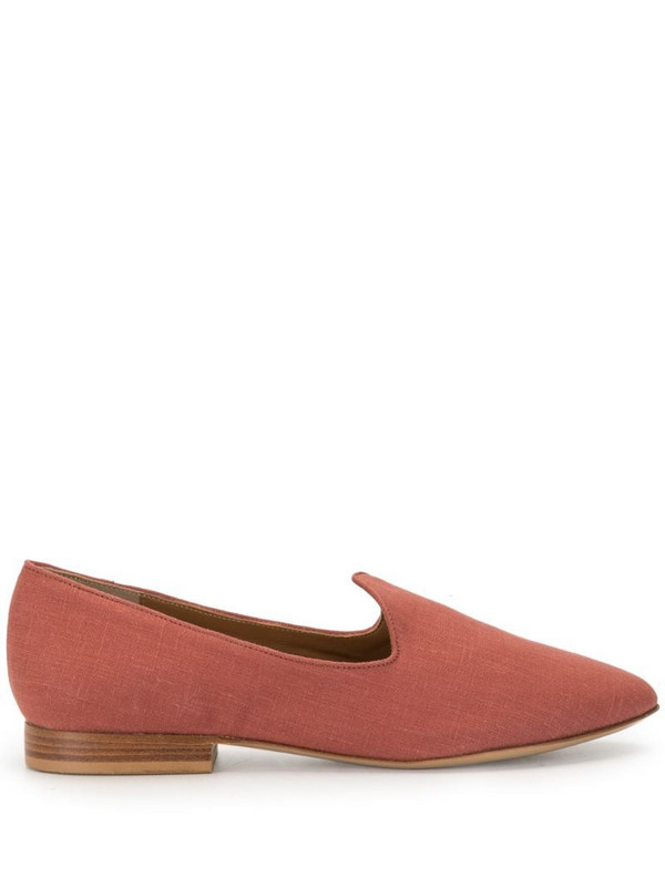Le Monde Beryl linen 15mm slippers in red
