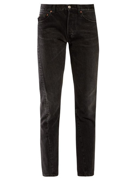 Balenciaga - Twisted Straight Leg Jeans - Womens - Black