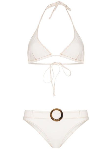 Lisa Marie Fernandez Pamela triangle bikini in neutrals