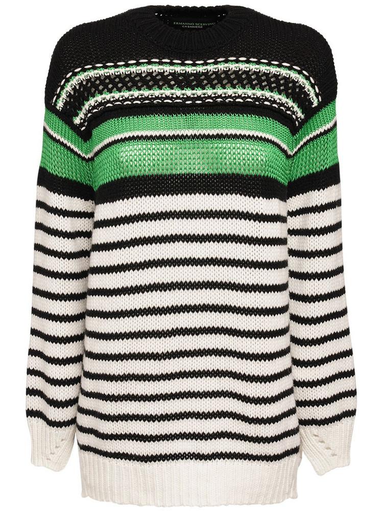 ERMANNO SCERVINO Intarsia Knit Crewneck Sweater