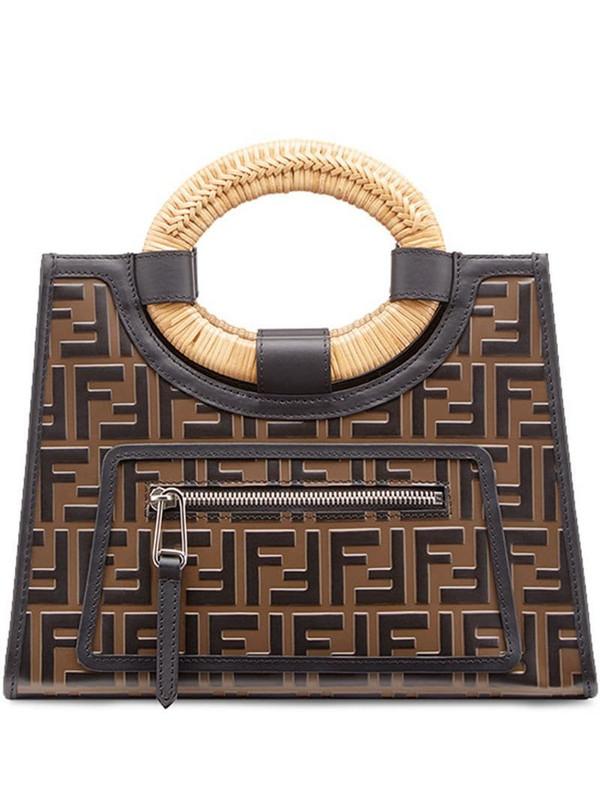 Fendi small Runaway Shopping tote in brown