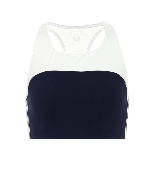 Tory Sport Retro sports bra in blue