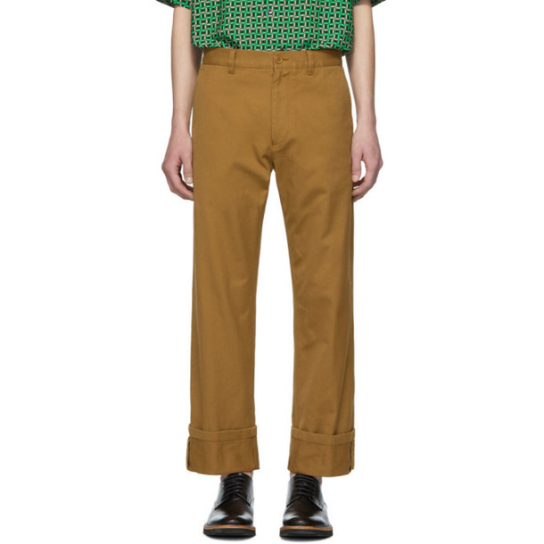 Dries Van Noten Brown Petrick Trousers