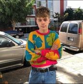 sweater,crop tops,floral,jumper,menswear