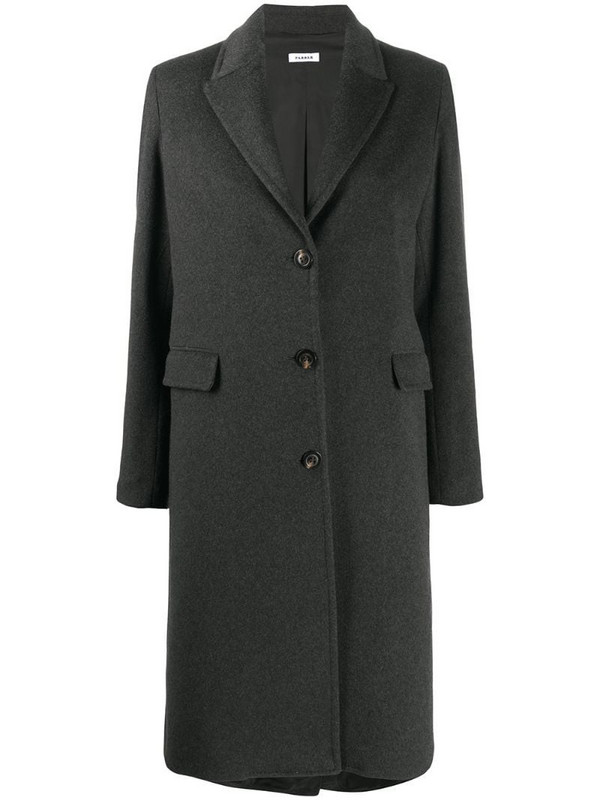 P.A.R.O.S.H. Wired single-breasted coat in grey