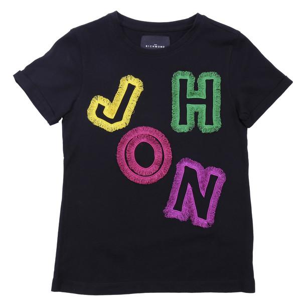 John Richmond Black Cotton Jersey T-shirt