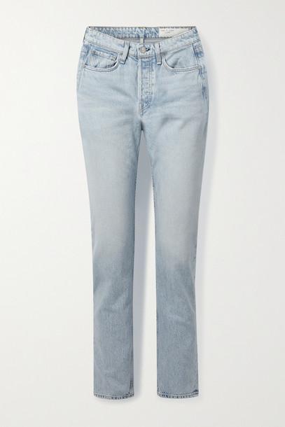 RAG & BONE - Maya High-rise Slim-leg Jeans - Blue