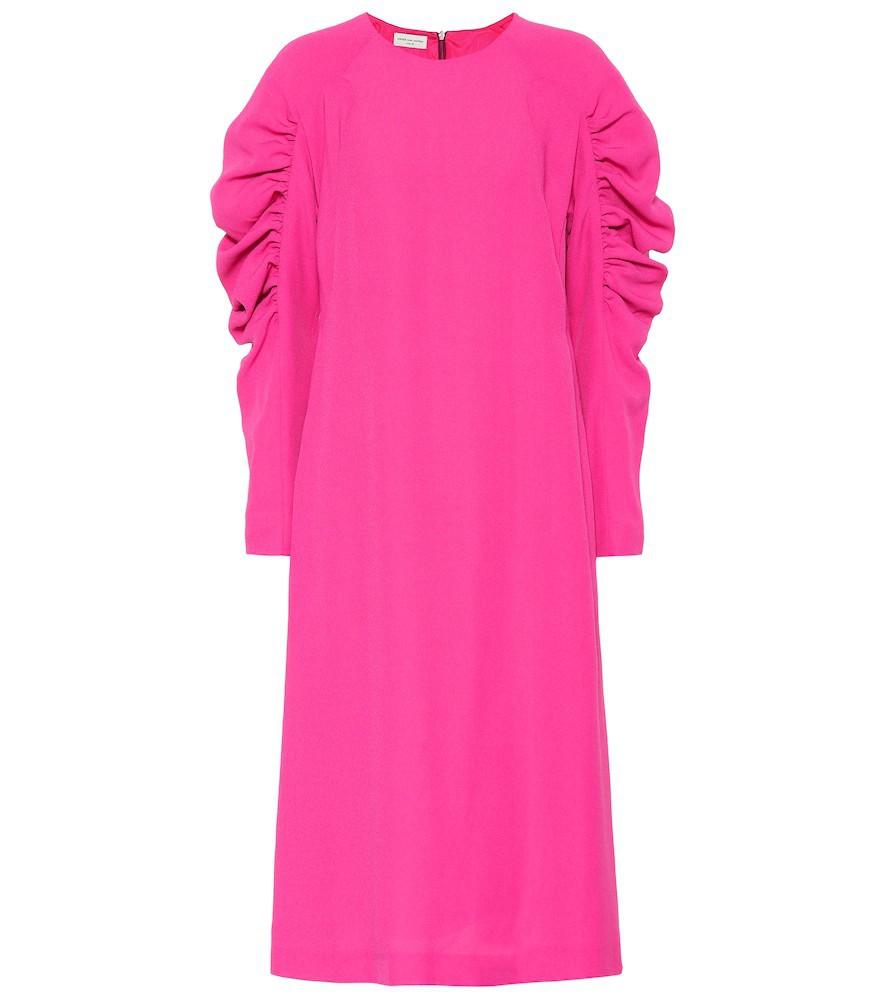 Dries Van Noten Crêpe midi dress in pink