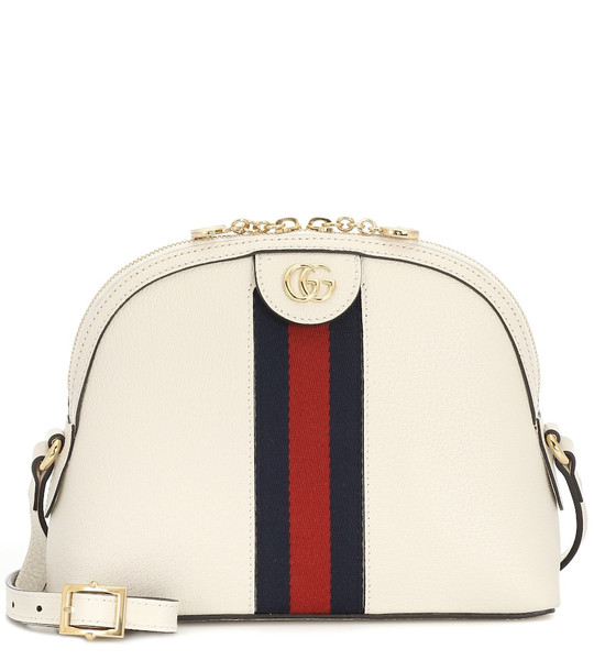 Gucci Ophidia Small leather shoulder bag in white