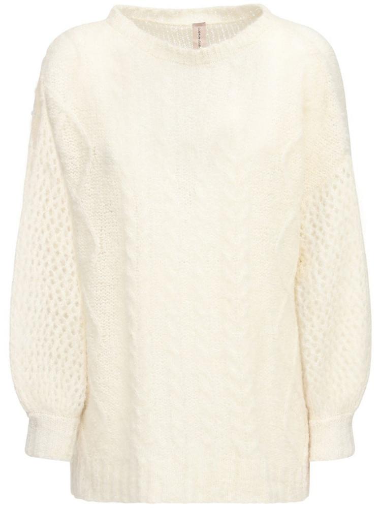 GUDRUN & GUDRUN Aphrodite Alpaca Blend Knit Sweater in white