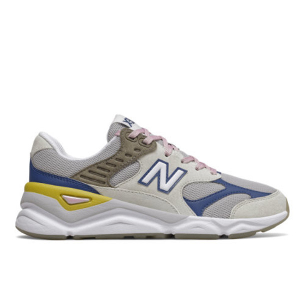 New Balance X90 Reconstructed Women's Shoes - Off White/Blue (WSX90REG)